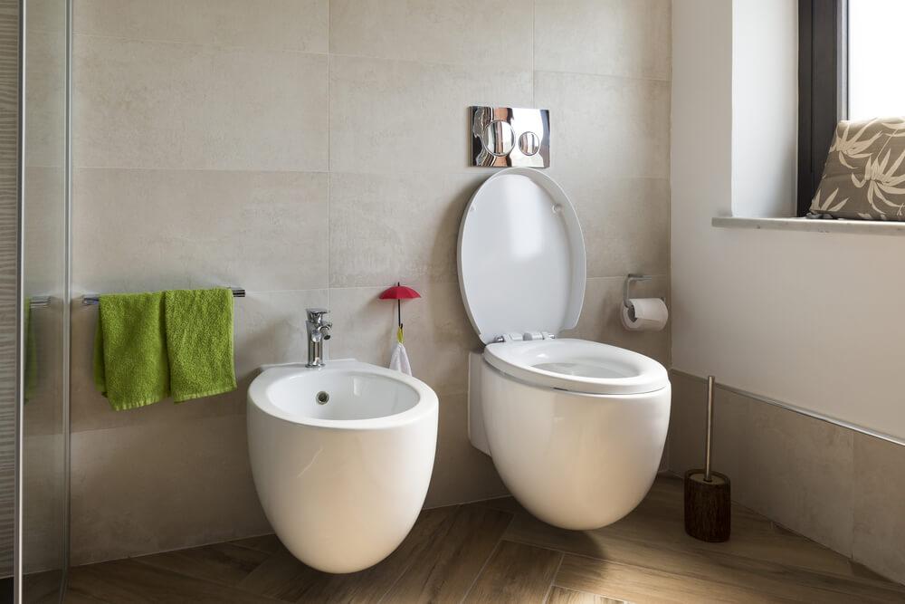 double wc suspendu